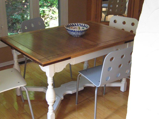Refinished dining room table flickr photo sharing for Refinished dining room table