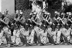 army, people, soldier, monochrome photography, marching, crew, monochrome, military, black-and-white, person, troop, social group,