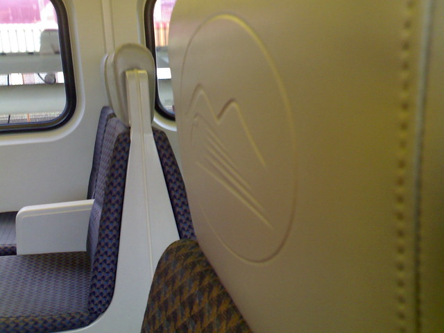 West Coast Express Logo Seats
