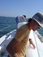 Figuring out how to haul the mast and sail into the …