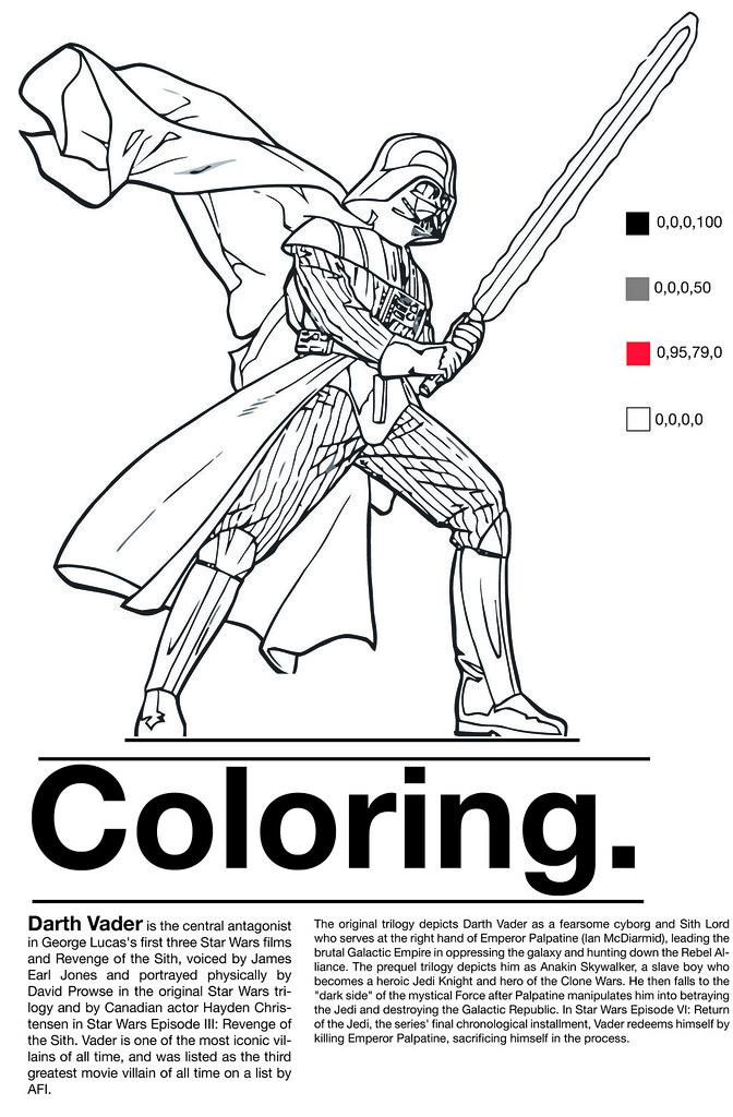 coloring project    darth vader