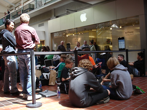 Waiting in line for iPhone