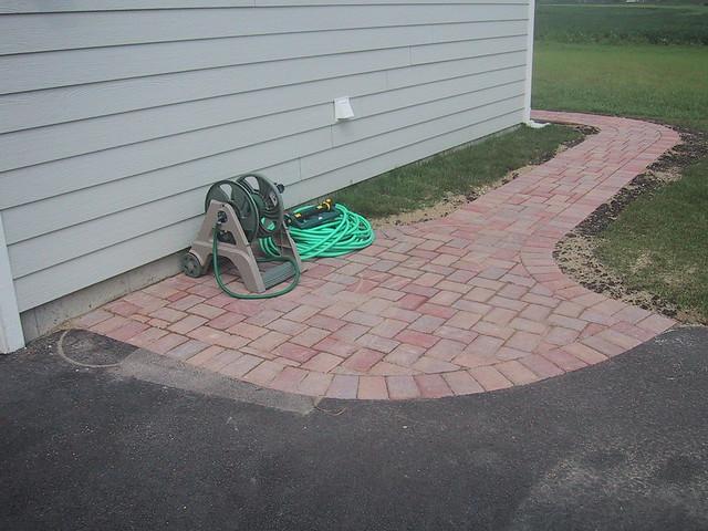 Sidewalk Joins Driveway
