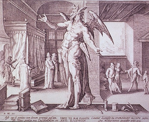 Hendrik Goltzius, The Physician as the Devil, 1587