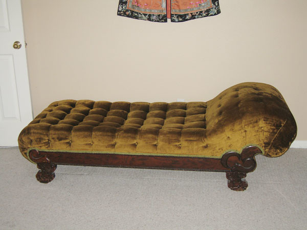 1860 S Antique Victorian Fainting Couch Chaise Very Rare