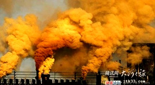 A sad picture of some of China's air