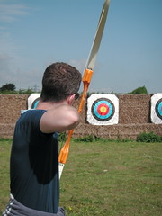 clay pigeon shooting(0.0), archery(1.0), individual sports(1.0), shooting(1.0), sports(1.0), recreation(1.0), outdoor recreation(1.0), target archery(1.0),