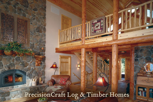 Custom Milled Log Home Design | Log Home in McCall Idaho | PrecisionCraft Log Homes