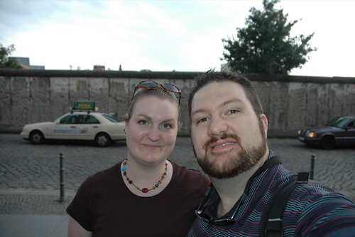 Us at the Berlin Wall