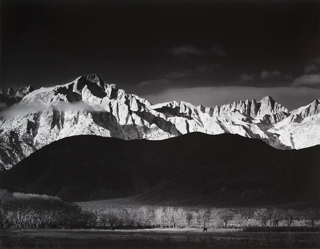 Winter Sunrise From Lone Pine, Sierra Nevada, Ansel Adams 1944