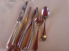 hand(0.0), finger(0.0), fork(1.0), spoon(1.0), tool(1.0), tableware(1.0), cutlery(1.0),