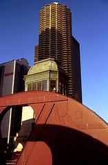 Chicago - Marina City from Dearborn Bridge