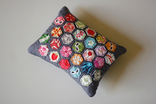 Mini Hexagon Pincushion Practice