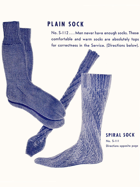 Spiral Socks Knitting Pattern : Vintage Plain and Spiral Socks Patterns Flickr - Photo Sharing!