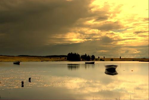 water scotland boat scenery loch