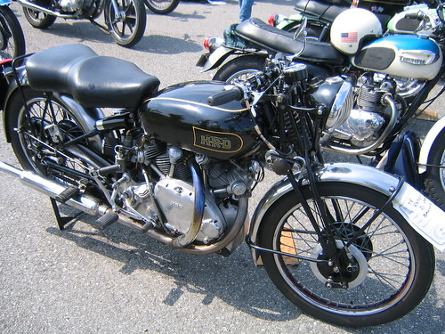 Vintage motorcycles at Owls Head