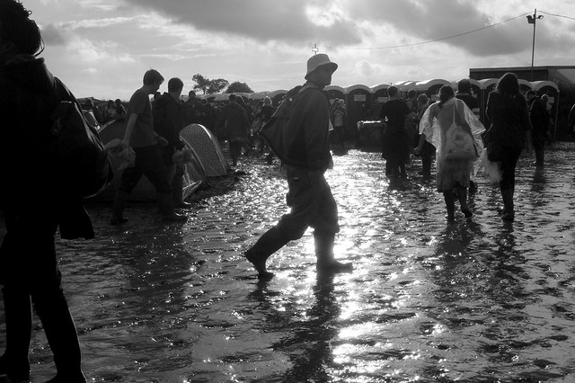 Glastonbury Festival mud