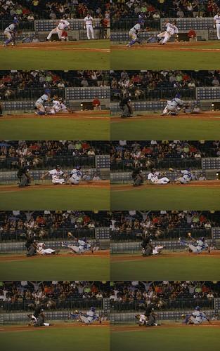 baseball slide minorleaguebaseball ericduncan aabaseball mississippibraves milb calledout playattheplate mbraves trustmarkpark clearlysafe