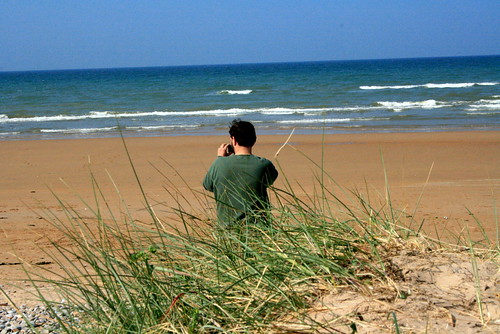 Omaha Beach on the day before DDay
