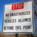 No Unauthorized Vehicles Allowed