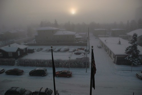 You think you have bad weather? the high point of the sun on a typical Anchorage day in the winter, Pioneer's Home, 4th floor view, Alaska, USA by Wonderlane