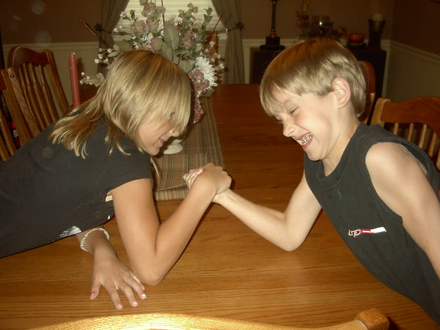 WATCH: Little brother mistakes his sisters wrestling