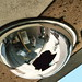Broken Parking Garage Convex Mirror: E Street, NW (Washington, DC) by takomabibelot