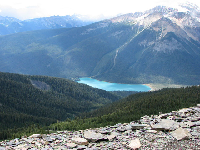 Emerald Lake seen from Burgess Shale quarry
