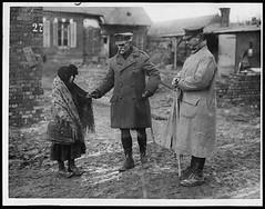 British General in a newly captured village