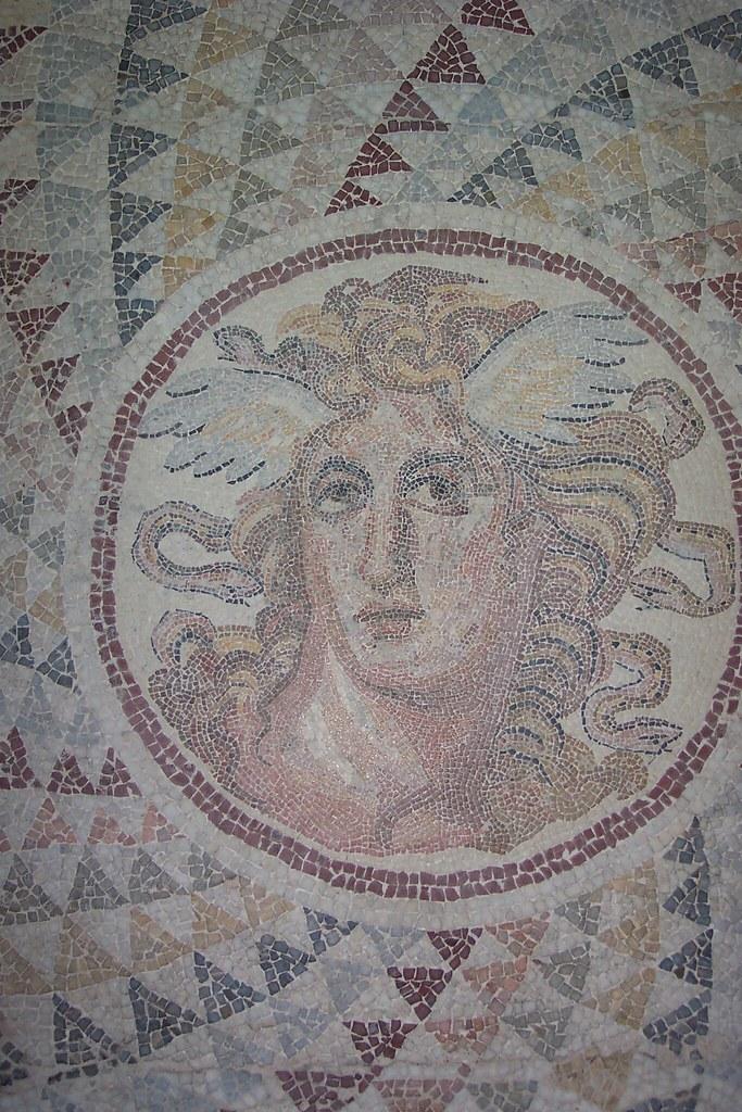 Medusa  Gorgona tiles, Roman Period, Athens