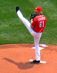 Reds pitcher #61 Bronson Arroyo