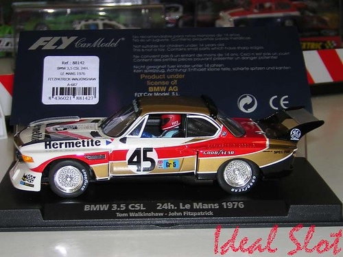 bmw 3 5 csl hermetite 45 24h le mans 1976 tom walkinsaw john fitzpatrick ref a687. Black Bedroom Furniture Sets. Home Design Ideas