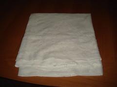 paper(0.0), plastic wrap(0.0), bed(0.0), textile(1.0), towel(1.0),