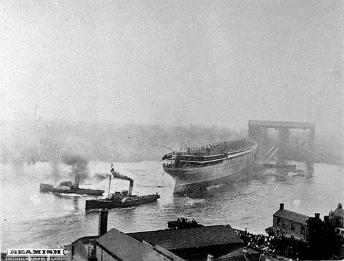 Launch of the Mauretania - Swan Hunter - Wallsend, Newcastle