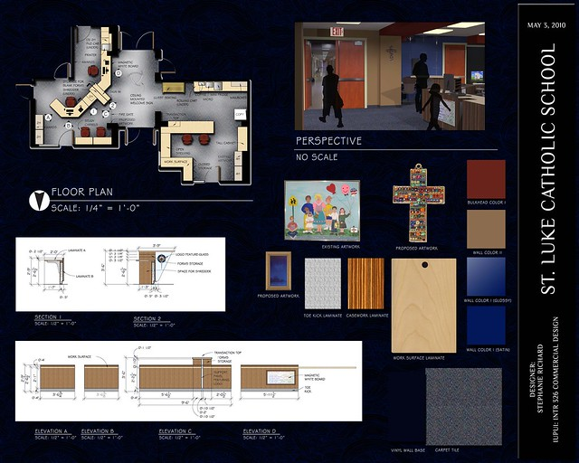 St luke 39 s catholic school office re design board 1 of 1 for Office design board