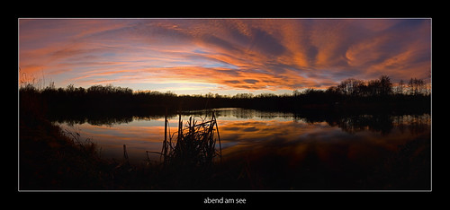 sunset panorama lake styria