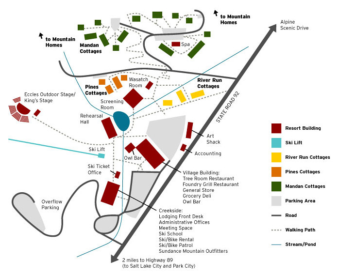 Sundance Resort Lodging Map Nestled At The Base Of Mount T Flickr
