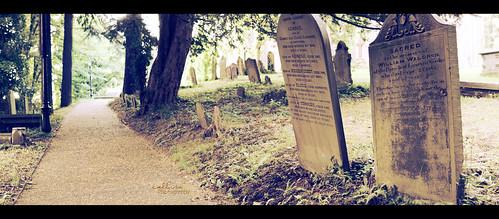 panorama graveyard chruch gravestone treforest monday pontypridd 365project vintagetones callissacaffull