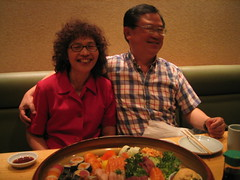Mom & dad and sushi