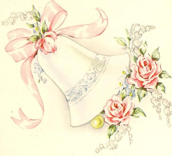 Vintage Wedding Bell Cake Topper
