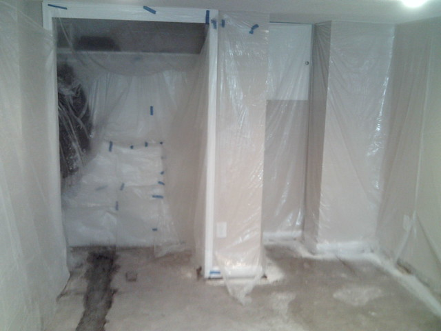 Plastic Protection For Finished Basement Waterproofing