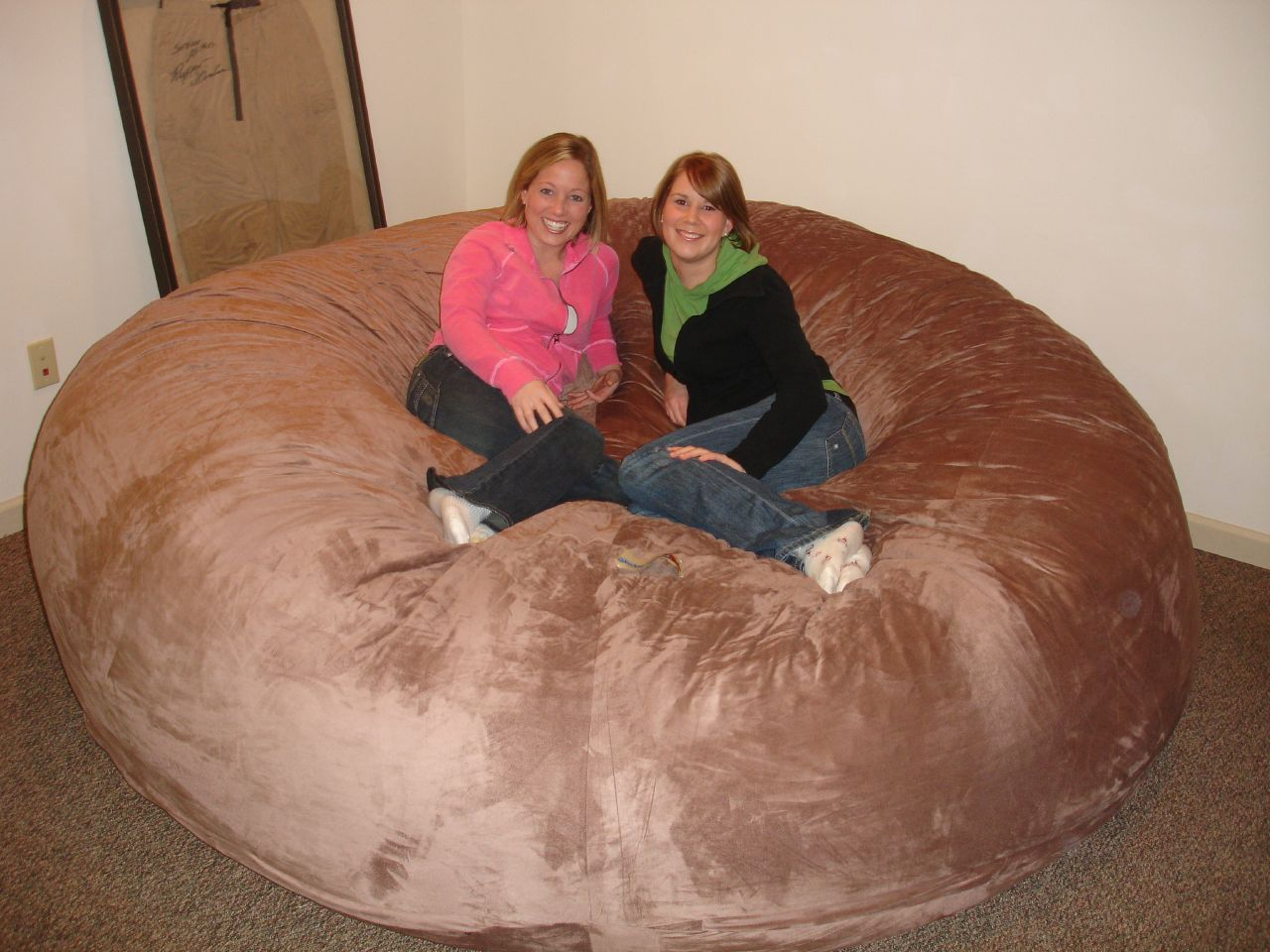 huge bean bag chair lovesac love sac comfy sack fombag - Giant Bean Bag Chairs