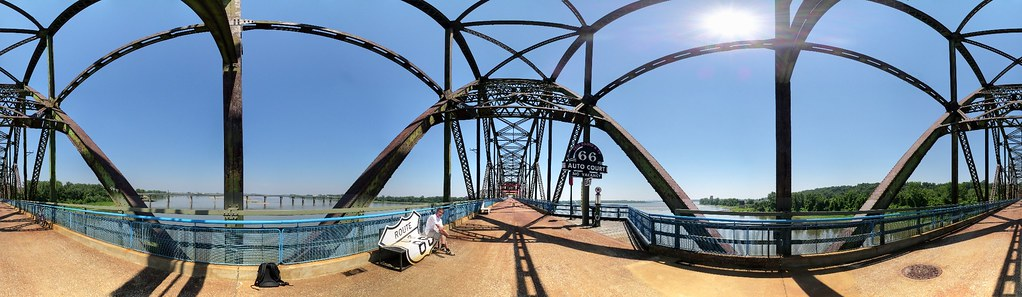 The Old Chain of Rocks Bridge & The Confluence of the Missouri And Mississippi Rivers