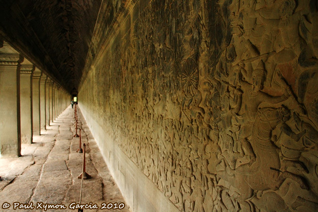 Carvings in Angkor Wat