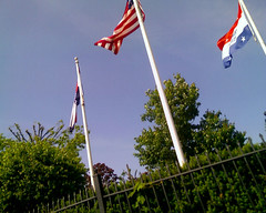 pole, wind, flag of the united states, flag,