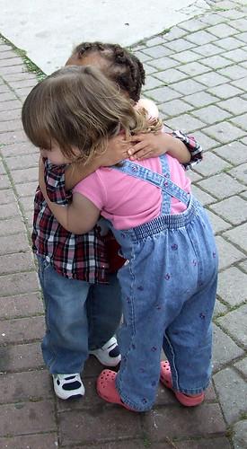 Hugging some Kid