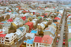reykjavik rooftops from hallgrimskirkja church tower