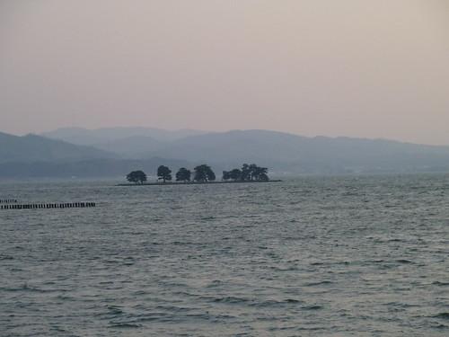 sunset japan lakes matsue honshu lakeshinji