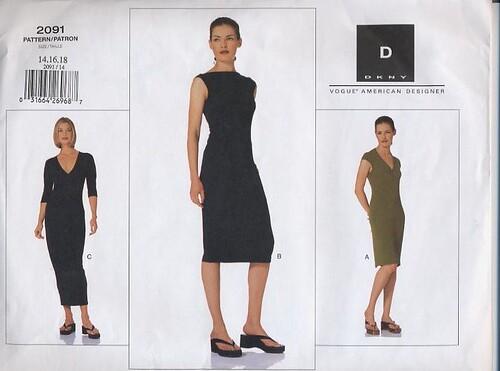 Vogue pattern 2091 DKNY dress