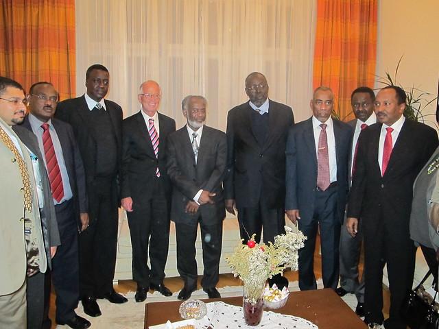 Empfang in der Residenz des sudanesischen Botschafters Elamin in Wien